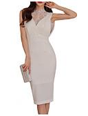 cheap Work Dresses-Women's Going out Skinny Sheath Dress High Waist Crew Neck
