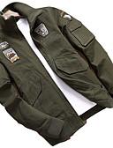 זול טרנינגים וקפוצ'ונים לגברים-עכשווי צווארון חולצה ג'קט - בגדי ריקוד גברים / שרוול ארוך