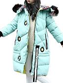 cheap Girls' Jackets & Coats-Kids Girls' Active / Street chic Going out Print Fur Trim / Print Long Sleeve Long Cotton Down & Cotton Padded