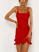 povoljno Večernje haljine-Žene Korice Haljina Jednobojni Mini
