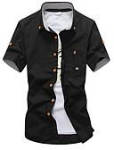 ieftine Tricou Bărbați-cămașa bărbaților ieșind - guler de cămașă solid colorat
