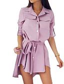 povoljno Ženske haljine-Žene Osnovni Korice Haljina Jednobojni Asimetričan