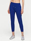 tanie Damskie spodnie-Damskie Podstawowy Bawełna Typu Chino Spodnie - Solidne kolory Niebieski