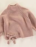 povoljno Majice za djevojčice-Djeca Djevojčice Osnovni Jednobojni Dugih rukava Džemper i kardigan Blushing Pink