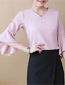 Χαμηλού Κόστους Βραδινά Φορέματα-Γυναικεία Μπλούζα Βασικό Μονόχρωμο