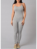 זול חליפת גוף-כתפיה אחיד - סרבלים כותנה בגדי ריקוד נשים