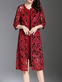 abordables Abrigo y Gabardinas de Mujer-Mujer Vintage Capa / Capes Un Color / Estampado Floral