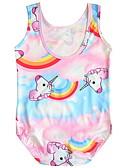 お買い得  女児 スイムウエア-子供 / 幼児 女の子 ビーチ プリント ポリエステル 水着 ピンク