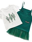 povoljno Kompletići za djevojčice-Dijete koje je tek prohodalo Djevojčice Osnovni Jednobojni Bez rukávů / Kratkih rukava Komplet odjeće