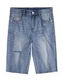 ieftine Pantaloni Bărbați si Pantaloni Scurți-Bărbați Bumbac / In Blugi Pantaloni Mată