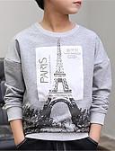 ieftine Maieu & Tricouri Bărbați-Copii Băieți De Bază Mată Manșon Lung Tricou