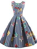 povoljno Vintage kraljica-Žene Vintage Pamuk Slim Hlače - Cvjetni print Print Plava / Izlasci