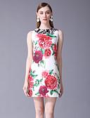 ieftine Dresses For Date-Pentru femei De Bază Teacă Rochie Floral Mini