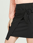 cheap Women's Skirts-Women's Basic A Line / Bodycon Skirts - Striped Black & White