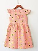 Χαμηλού Κόστους Βρεφικά φορέματα-Μωρό Κοριτσίστικα Βασικό Καθημερινά Φρούτα Στάμπα Κοντομάνικο Κανονικό Κανονικό Πάνω από το Γόνατο Βαμβάκι Φόρεμα Λευκό