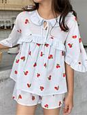 abordables Batas y ropa de dormir-Mujer Asimétrico Babydoll y Slip Pijamas Un Color