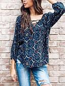 tanie Koszula-Bluzka Damskie Bawełna Solidne kolory