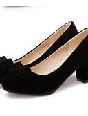 ราคาถูก เดรสพลัสไซซ์-สำหรับผู้หญิง หนังนิ่ม ฤดูใบไม้ผลิ ความสะดวกสบาย รองเท้าส้นสูง ส้นหนา สีดำ / แดง / ทุกวัน