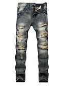 povoljno Muške duge i kratke hlače-Muškarci Osnovni Traperice Hlače Color block