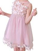 povoljno Haljine za djevojčice-Djeca Djevojčice Osnovni Jednobojni Bez rukávů Haljina Obala 140