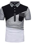 billige Poloskjorter til herrer-Polo Herre - Fargeblokk, Lapper