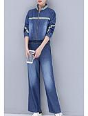 זול שמלות נשים-מכנס פסים - סט בגדי ריקוד נשים