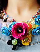זול שמלות נשים-בגדי ריקוד נשים קריסטל קָלוּעַ שרשראות הצהרה - ורדים, פרח הצהרה, ארופאי, פסטיבל / חג ירוק, כחול, ורוד שרשראות עבור Party, אירוע מיוחד, יום הולדת