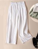 tanie Damskie spodnie-Damskie Szczupła Typu Chino Spodnie - Solidne kolory Czarny