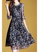 זול שמלות נשים-מידי שמלה נדן רזה ליציאה / עבודה בגדי ריקוד נשים