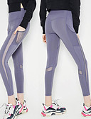 cheap Panties-Women's Patchwork / Pocket Yoga Pants - Black, Light Purple Sports Solid Color Spandex, Mesh High Rise Tights / Leggings Running, Fitness, Dance Activewear Moisture Wicking, Quick Dry, Anatomic Design