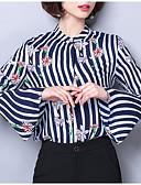 ieftine Tricou-Pentru femei Bluză Mată / Dungi / Floral Imprimeu