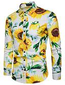 ieftine Tricou Bărbați-Bărbați Cămașă De Bază - Floral Imprimeu Floarea Soarelui