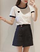 povoljno Majica-Žene Osnovni Set - Prugasti uzorak Suknja
