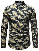 זול חולצות לגברים-פרחוני בסיסי חולצה - בגדי ריקוד גברים