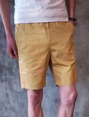 povoljno Muške košulje-Muškarci Pamuk Kratke hlače Hlače Jednobojni / Plaža