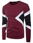 ieftine Maieu & Tricouri Bărbați-Bărbați Tricou De Bază - Bloc Culoare Peteci Negru & Roșu