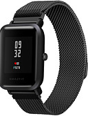 cheap Smartwatch Bands-Watch Band for Huami Amazfit Bip Younth Watch Xiaomi Milanese Loop Stainless Steel Wrist Strap