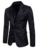 cheap Men's Blazers & Suits-men's going out blazer-solid colored v neck