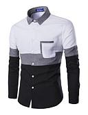 billige Herreskjorter-Bomull Skjorte Herre - Fargeblokk / Langermet
