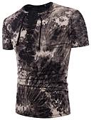 tanie Koszulki i tank topy męskie-T-shirt Męskie Podstawowy Bawełna Okrągły dekolt Szczupła - Kolorowy blok / Krótki rękaw