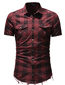 baratos Camisas Masculinas-Homens Camisa Social Básico Sólido