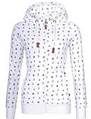 povoljno Majica s rukavima-Žene Ulični šik / Sofisticirano Hoodie - Drapirano / Print, Geometrijski oblici