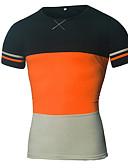 cheap Men's Hoodies & Sweatshirts-Men's Sports T-shirt - Color Block Round Neck / Short Sleeve