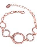 abordables Vestidos de Mujer-Lucky Doll 1pc Cobre Brillante Rosa Oro Plateado Al aire libre para Oro Rosa / Mujer / Cadenas y esclavas / Brazalete colgante / Cadenas y esclavas