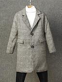 povoljno Džemperi i kardigani za dječake-Djeca Dječaci Osnovni Jednobojni Dugih rukava Lan Baloner Svjetlosmeđ