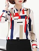 economico Camicie da donna-Blusa Per donna Per uscire Moda città Con stampe, Fantasia geometrica / Monocolore Colletto alla coreana / Sexy / Taglia piccola