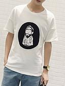 ieftine Maieu & Tricouri Bărbați-Bărbați Tricou De Bază - Portret Imprimeu
