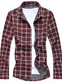 povoljno Muške košulje-Majica Muškarci Vikend Prugasti uzorak / Dugih rukava