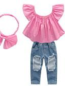 povoljno Kompletići za bebe-Dijete Djevojčice Jednobojni Kratkih rukava Komplet odjeće