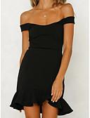 זול שמלות נשים-סירה מתחת לכתפיים מעל הברך שמלה נדן רזה ליציאה בגדי ריקוד נשים